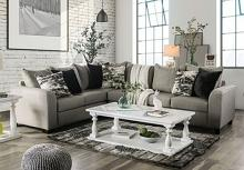 SM5204GY 2 pc Barnett gray linen like fabric sectional sofa set