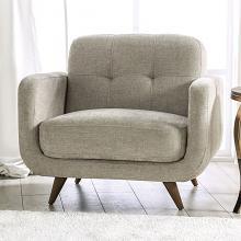 SM6043-CH  Hokku designs siegen beige fabric mid century modern accent chair