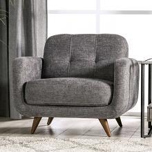 SM6044-CH  Hokku designs siegen light grey fabric mid century modern accent chair