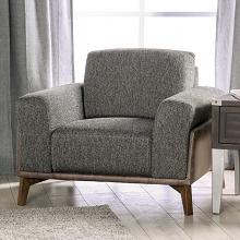 SM6045-CH  Hokku designs kloten light grey two tone design fabric mid century modern accent chair
