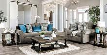 SM6155 2 pc Canora grey hidalgo porth gray chenille fabric sofa and love seat set