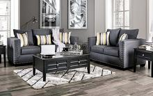 SM6220 2 pc Inkom slate linen like fabric sofa and love seat set