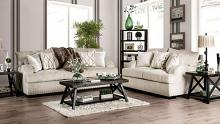SM6223 2 pc Nefyn golden ivory chenille fabric sofa and love seat set