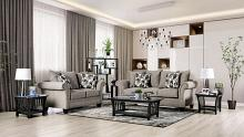 SM6224 2 pc Rosdorf park shelly gray chenille fabric sofa and love seat set