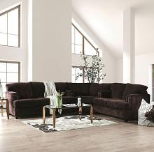 SM6410-SECT 3 pc Rosdorf park sereno Brynlee chocolate chenille fabric sectional sofa