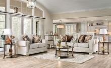 SM6437 2 pc Rosdorf park myra emely light gray chenille fabric sofa and love seat set