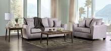 SM7755 2 pc Rosdorf park croydon light gray fabric flared arms sofa and love seat set