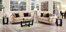 SM8008 2 pc Rosdorf park myra kailyn sand chenille fabric sofa and love seat set