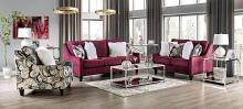 SM8016 2 pc Rosdorf park myra jillian plum chenille fabric sofa and love seat set