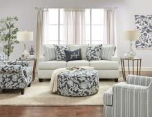 SM8190 2 pc Canora grey porthcawl ivory chenille fabric sofa and love seat set