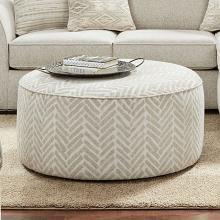 SM8192-OT Canora grey saltney ivory chenille patterned fabric round ottoman foot stool