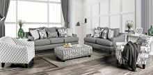 SM8330 2 pc Charlton home verne bluish grey linene like fabric sofa and love seat set