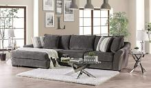 SM9109 2 pc Canora grey Sigge charcoal gray chenille fabric sectional sofa with chaise