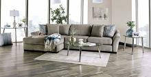 SM9110 2 pc Canora grey Sigge light gray chenille fabric sectional sofa with chaise