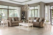 SM9114 2 pc Charlton home Oacoma brown chenille fabric sofa and love seat set