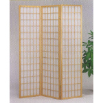 3 panel natural room divider shoji screen
