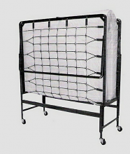 """Hollywood Bedframe 950 48"""" poly 48"""" x 72"""" roll away fold up guest bed with 4"""" foam mattress"""
