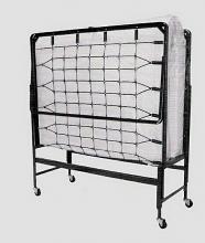 "48"" x 72"" roll away fold up guest bed with 4"" foam mattress"