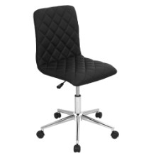 Caviar Height Adjustable Contemporary Office Chair with Swivel in Black
