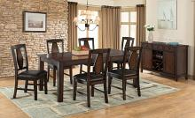 VH-1300-7PC 7 pc Gracie oaks tuscan hills distressed tobacco finish wood dining table set