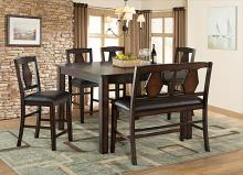 VH-2300-6PC 6 pc Gracie oaks tuscan hills distressed tobacco finish wood counter height dining table set