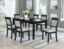 VH-727-7PC 7 pc Gracie oaks upstate black finish wood dining table set