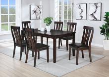 VH-626-7PC 7 pc Gracie oaks brunswick tobacco finish wood dining table set
