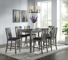 VH-686-7PC 7 pc Gracie oaks glenoaks gray finish wood counter height dining table set