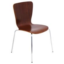 Bentwood Stacker Mid-century Modern Chair in Walnut