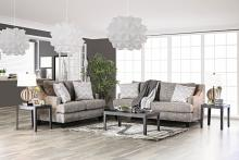 SM6420 2 pc Erika gray chenille fabric sofa and love seat set
