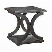 Wildon collection espresso wood curved design legs end table