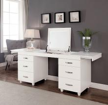CM-DK6103 Verviers white finish wood modern style make up vanity desk