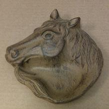Cast iron horse face ash tray