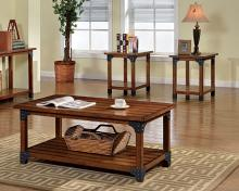 Furniture of america CM4102-3pk Bozeman rustic country style antique oak finish wood coffee and end table set