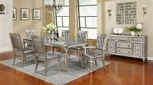 106471-72-73 7 pc Rosdorf park shiloh danette II metallic platinum finish wood dining table set