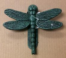 Cast iron antique teal dragon fly door knocker