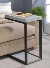 902933 Sky black metal finish and cement top side table