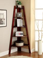 CM-AC6214CH Lyss cherry finish wood 5 tier corner bookcase shelf