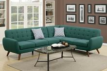 2 pc abigail ii collection laguna linen like fabric upholstered sectional sofa with tufted back