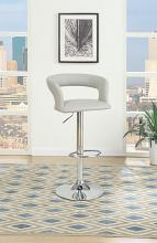 Poundex F1556 Set of 2 kossini contemporary style grey faux leather adjustable swivel bar stool