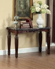 Furniture of america CM4292EX-S Brampton espresso finish wood sofa console entry table with faux marble top