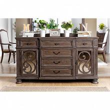 CM3150SV Arcadia rustic natural tone finish wood dining sideboard server buffet table