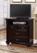 CM7129TV Syracuse contemporary style dark walnut finish wood tv console media chest