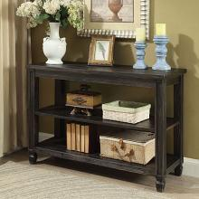 CM4615BK-S Suzette antique black finish wood sofa console entry table