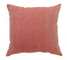 "Furniture of america PL688S Set of 2 jill collection red colored fabric 18"" x 18"" throw pillows"