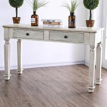 CM4089S Joliet antique white finish wood rustic style sofa table