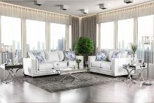 SM2675 2 pc Ilse off white chenille fabric sofa and love seat set