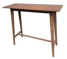 101436 Cathryn styles mid-century modern walnut finish wood bar height kitchen table