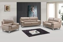 9436BEI-2PC 2 pc Orren ellis alena modern style beige leather gel sofa and love seat set
