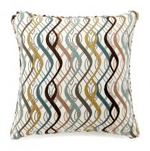 "Set of 2 sine collection multi colored fabric 18"" x 18"" throw pillows"